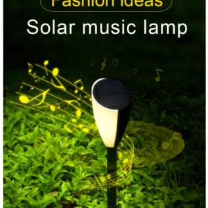 pazari4all.gr-Ηλιακά Φωτιστικά για Γκαζόν με μουσική και με διπλό χρώμα φωτισμού Solar Garden LED