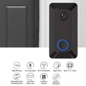 pazari4all.gr-Kindsells V6 Ασύρματο κουδούνι WiFi Smart Doorbell με απομακρυσμένη οθόνη ενδοεπικοινωνίας