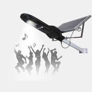 pazari4all.gr-Ηλιακό Φωτιστικό δρόμου 80w επαναφορτιζόμενο με Hi-Fi Music και Bluetooth