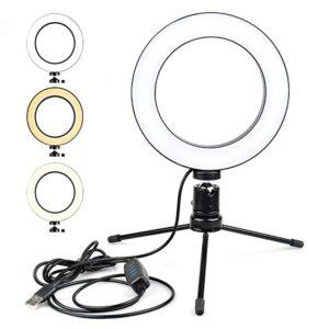 pazari4all.gr-Επαγγελματικό Φωτογραφικό Φωτιστικό Δαχτυλίδι Ring Lamp Light LED USB 26cm με 3 Χρώματα Φωτισμού, Dimmer & Τρίποδο