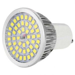 pazari4all.gr-Λάμπα LED SMD GU10 5W 220-240V 6000k Ψυχρό λευκό φως 260 lm με γυάλινο κάλυμμα