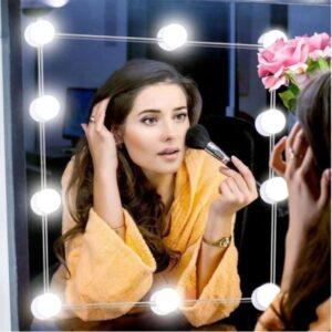 pazari4all.gr-Αυτοκόλλητος Ρυθμιζόμενος Φωτισμός Led Vanity Τύπου Hollywood για Καθρέπτη Τουαλέτας Μακιγιάζ