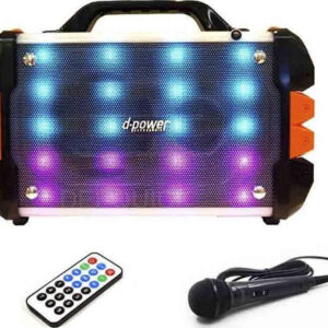 pazari4all.gr- Ηχείο Bluetooth karaoke d-power K50-LED