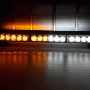pazari4all-Διπλή μαγνητική μπάρα φάρος προειδοποίησης πορτοκαλί με Άσπρο 12V 108W αδιάβροχη.