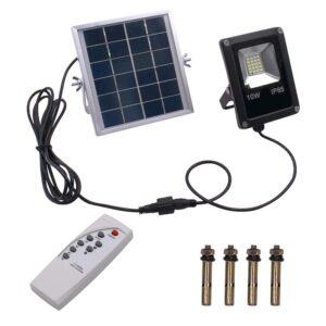 pazari4all.gr-Ηλιακός προβολέας 10W 4500LM με Λευκό Φως με τηλεχειριστήριο