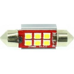 pazari4all.gr-C5W LED Canbus πλαφονιέρας (σωλήνας) 36mm 6 SMD cool white 1 τεμ.