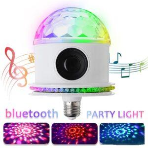 pazari4all.gr-Λάμπα Μουσικής LED E27 RGB με Ηχείο Bluetooth 85-265V για πάρτι γενεθλίων