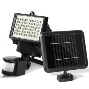 pazari4all.gr-Ηλιακός Προβολέας 100 LED με Ανιχνευτή Κίνησης SOLAR-SMD