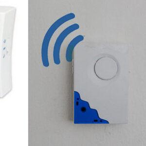 pazari4all.gr-Ασύρματο κουδούνι πόρτας ρεύματος με 2 δέκτες το σήμα διαπερνά τους τοίχους ΟΕΜ