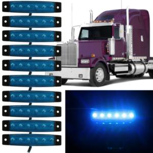 pazari4all.gr-Led φώτα όγκου φορτηγών IP66 μπλέ 24v 10τεμάχια