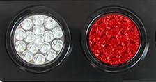pazari4all.gr-Στρογγυλά φανάρια LED 24V με σκάλα high/low κόκκινο-άσπρο ζευγάρι