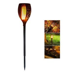 pazari4all.gr-Ηλιακό Φωτιστικό LED Με Εφέ Φλόγας και αισθητήρα Φωτός Εξωτερικού Χώρου Τύπου Δάδας - 78cm