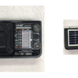 pazari4all-Ηλιακό Επαναφορτιζόμενο Bluetooth Ηχείο – Ραδιόφωνο (NS-Q13BT)