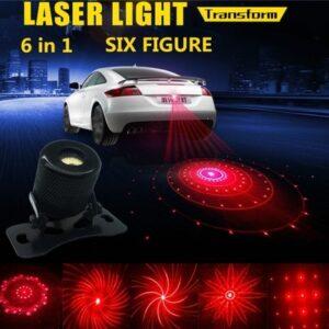 pazari4all.gr-Πίσω Led Laser προειδοποιησης σύγκρουσης αυτοκινήτου και μηχανής σε 6 μοτίβα