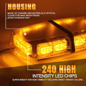 pazari4all.gr-Mαγνητικός LED Φάρος Οροφής 12v-24v Αδιάβροχος κίτρινος