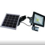 pazari4all.gr-Ηλιακός LED Προβολέας 30W με Ανιχνευτή Κίνησης & Φωτοβολταϊκό Συλλέκτη.