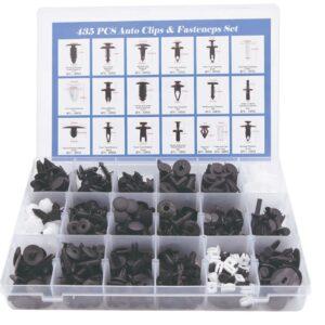 pazari4all.gr-Σετ 435 Πλαστικά Κουμπώματα Κλίπς Σε Κασετίνα 18 Τύποι.