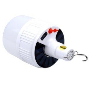 pazari4all-Επαναφορτιζόμενη Λάμπα φωτισμού με ηλιακή ακτινοβολία LED 10.5 εκ. * 17 εκατοστά έκτακτης ανάγκης.