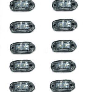 pazari4all.gr-Σετ 10 τεμαχίων led Φώτα Όγκου Φορτηγών IP66 Μπλέ 12v/24v.