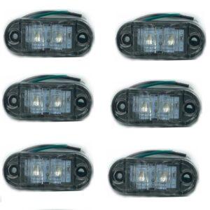 Σετ 10 τεμαχίων led Φώτα Όγκου Φορτηγών IP66 Πράσινο 12v/24v.-pazari4all.gr