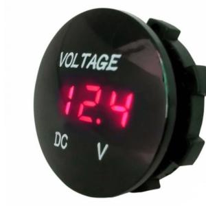 Pazari4all.gr-Βολτόμετρο υψηλής ποιότητας στρογγυλό με LED ψηφιακή κόκκινη οθόνη