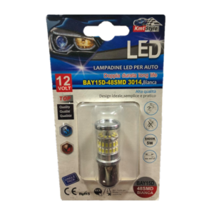 Λάμπα διπολική BAY15D-48SMD LED 12v.-pazari4all.gr