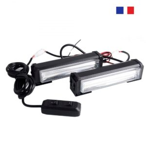 pazari4all.gr-2 X 40W Φάροι προειδοποίησης LED cob strobe Μπλέ και Κόκκινο NK-BS02