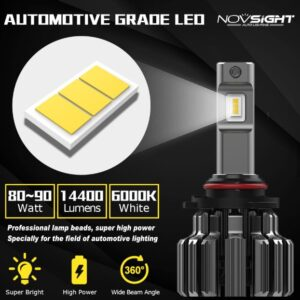 Novsight LED Λάμπες 80W 15000LM 6000K H4.-pazari4all.gr