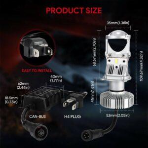 pazari4all.gr-LED λάμπες H4 Hi / Lo Φωτισμός Super Brightness 60W Λευκό 5000K 6000K DIY ΟΕΜ