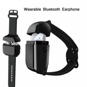 pazari4all.gr-A01 TWS Ασύρματα ακουστικά Bluetooth σε θήκη ρολόι