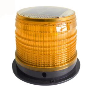 pazari4all.gr-Ηλιακός Επαναφορτιζόμενος Πορτοκαλί Μαγνητικός Φάρος Αυτοκινήτου με Στροβοσκοπικό φώς Led και Φωτοκύταρο OEM