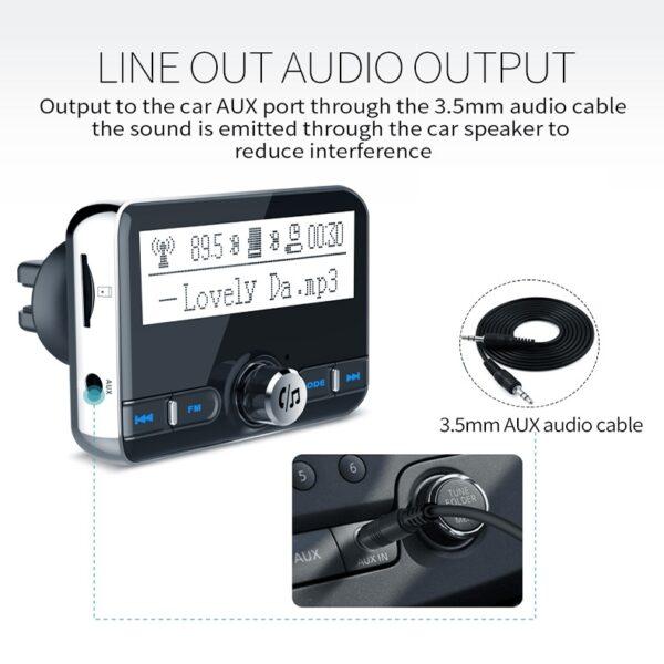 pazari4all.gr-Transimiter Bluetooth FM hands-free BC31 2,4 οθόνης
