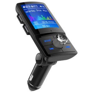 pazari4all.gr-BC45 Πομπός αυτοκινήτου με ασύρματη σύνδεση Bluetooth FM με δύο κάρτες εισόδου φορτιστή USB TF