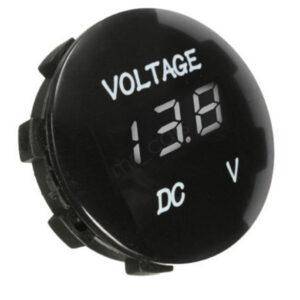 Pazari4all.gr-Βολτόμετρο υψηλής ποιότητας στρογγυλό με LED ψηφιακή άσπρη οθόνη