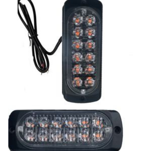 Πορτοκαλί Φώς όγκου Led με 18 λειτουργίες και strobe φωτισμό μόνο ΟΕΜ 12-24volt-pazari4all.gr
