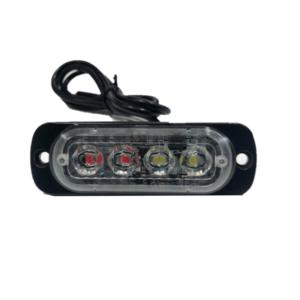Φανάρι led κόκκινο&λευκό strobe με διαφορετικές λειτουργίες LED 12-24V 4 SMD OEM-pazari4all.gr