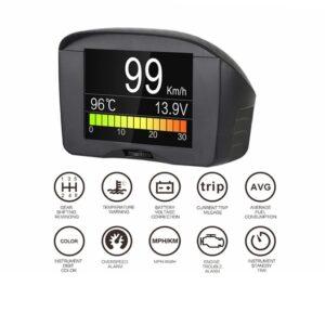 pazari4all.gr-AUTOOL X50 Plus HUD Προβολέας οθόνης με ψηφιακό μετρητή θερμοκρασίας νερού Αυτοκίνητου OBD2 Smart