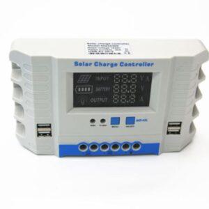 Ρυθμιστής φόρτισης φωτοβολταικών 40 ampere & οθονη Lcd 12/24V , 4x Usb 2ampere-pazari4all.gr