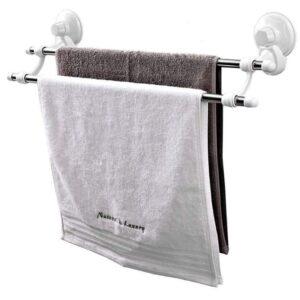 Κρεμάστρα τοίχου για 2 πετσέτες με βεντούζες-pazari4all.gr