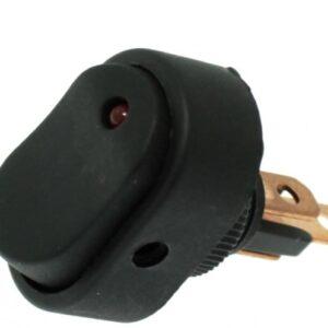 Αδιάβροχος διακόπτης On / Off LED 3pin 12V κόκκινο OEM-pazari4all.gr