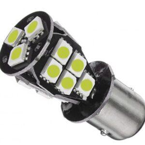 pazari4all.gr-Διπολική λάμπα 1157 LED Λευκή 12V DC 23 LED 1 τεμ. OEM