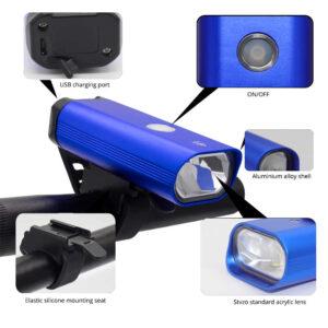 pazari4all.gr-USB Επαναφορτιζόμενο μπροστινό Φως αδιάβροχο LED ποδήλατου