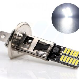 H1 LED 5730 24 SMD 12V cool white φώτα ημέρας 1τεμ. IP65 OEM