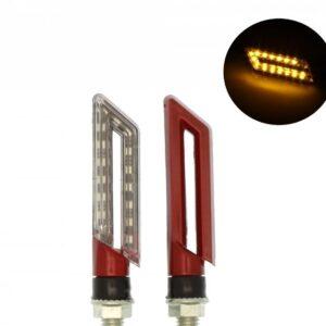 Φλάς μηχανής 15 SMD LED universal πορτοκαλί σετ 2 τεμ. IP65 OEΜ-pazari4all.gr