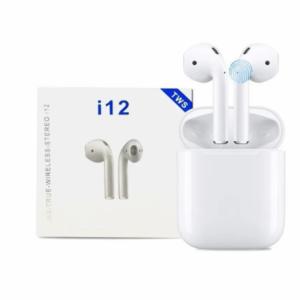 pazari4all.gr-Ασύρματα Ακουστικά Earbuds Bluetooth v5 i12 TWS Wireless Touch OEM