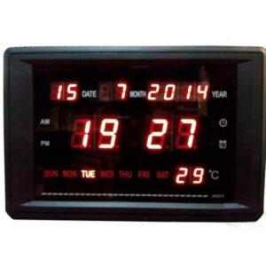 pazari4all.gr-Ψηφιακή πινακίδα ρολόι - θερμόμετρο - ένδειξη ημερομηνίας JH2315