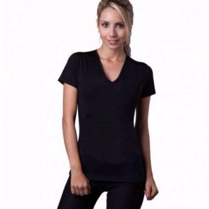 pazari4all.gr-Γυναικεία μπλούζα κοντομάνικη εφίδρωσης και αδυνατίσματος από Neoprene ΟΕΜ