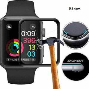 pazari4all.gr-Προστασία οθόνης Apple iWatch Tempered Glass FULL GLUE 5D