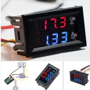 Ψηφιακό όργανο πίνακος βολτόμετρο και αμπερόμετρο LCD SLIM-pazari4all.gr