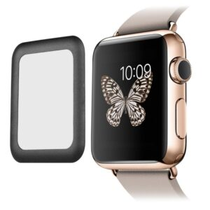 pazari4all.gr-Προστασία οθόνης Apple iWatch Tempered Glass FULL GLUE 5D Full Screen Protector Cover Black (42mm)